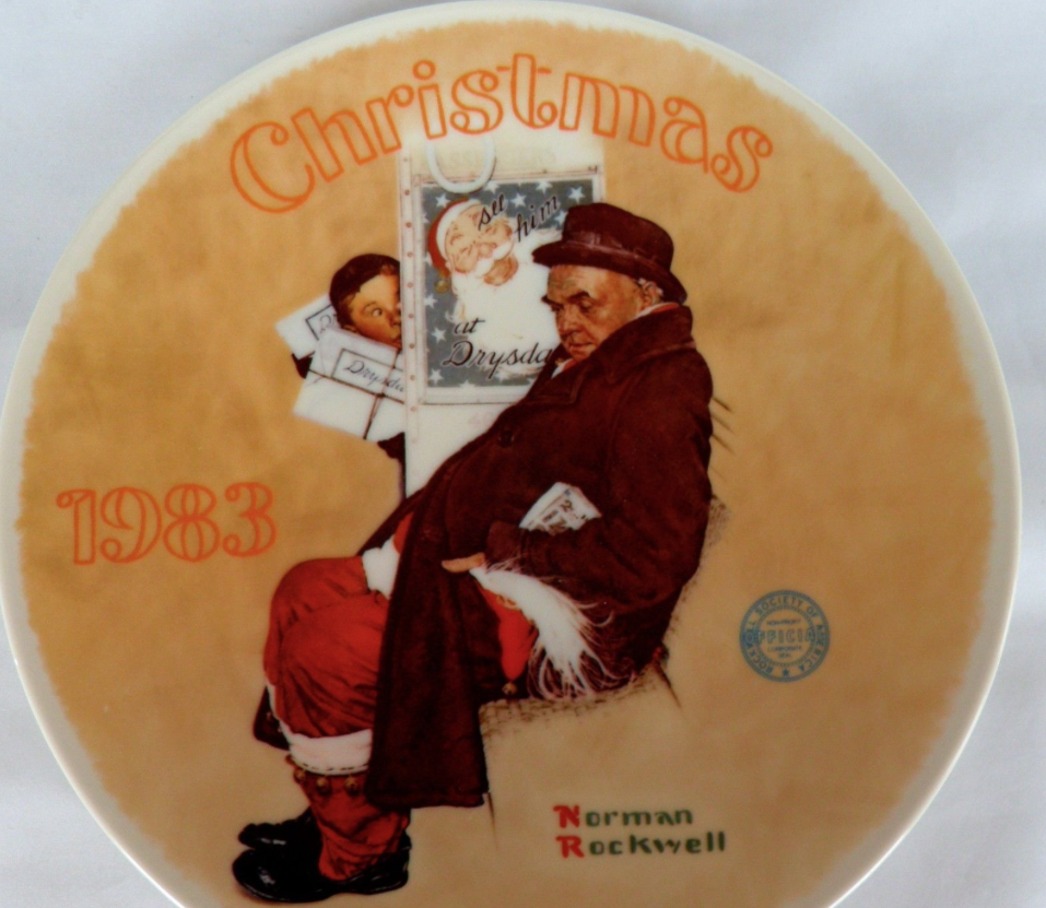 Christmas Plates 2 Norman Rockwell 1982 1983 and similar items