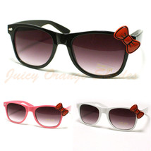 Women's Kitty Sunglasses w/ Red Bow Ribbon Nerdy Retro Fashion Cute - $9.95