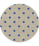 ** 32ct Natural Navy Petit Point Belfast linen 18x27 cross stitch Zweigart - $13.50