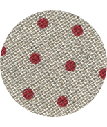 ** 32ct Natural Red Petit Point belfast linen 18x27 cross stitch fabric ... - $13.50