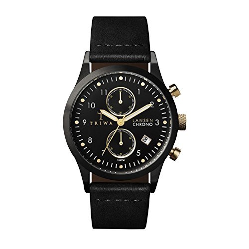 Triwa Unisex LCST108-CL010113 Midnight Lansen Classic Chrono Watch with Black...