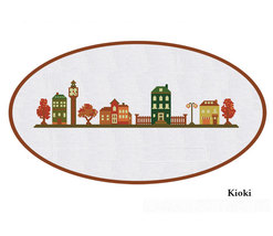 Cross Stitch Pattern Old Town Sampler - $5.00