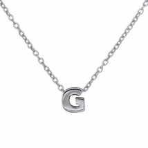 Silver G Pendant Necklace, 925 Sterling Silver ... - $17.50