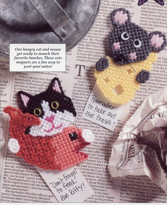 Primary image for What's for Lunch? Cat Mouse Magnets Plastic Canvas PATTERN INSTRUCTIONS/NEW