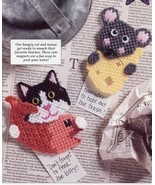 What's for Lunch? Cat Mouse Magnets Plastic Canvas PATTERN INSTRUCTIONS/NEW - £0.88 GBP