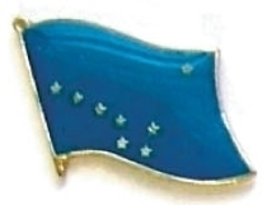 ALASKA - Wholesale lot 12 state flag lapel pins ep502 - $18.00