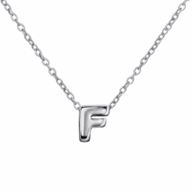 Silver F Pendant Necklace, 925 Sterling Silver ... - $17.50