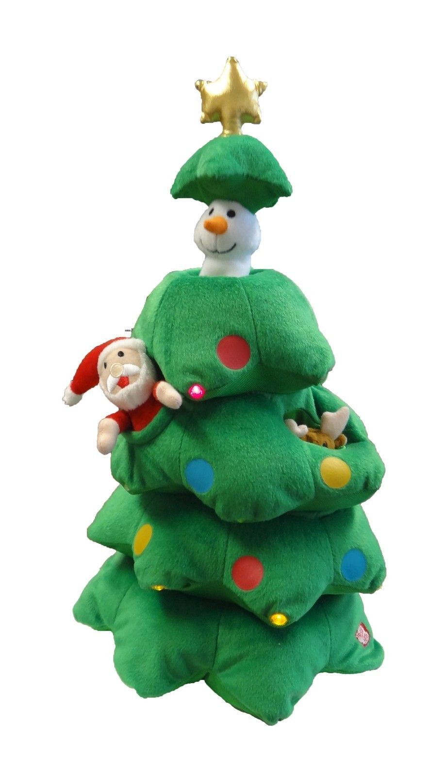 Cartoon Christmas Toys : Singing christmas tree animated plush toy musical reindeer