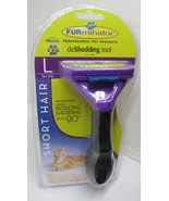 Furminator Deshedding Brush For Large Cat Over 10 lbs with Short Hair - $16.59 CAD