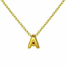"Gold A Pendant Necklace, Vermeil Gold Initial Letter ""A"" Charm Necklace - $18.00"