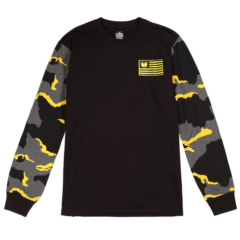 Wu-Tang Men's Iron Flag L/S Tee 44WU0701 Black SZ M