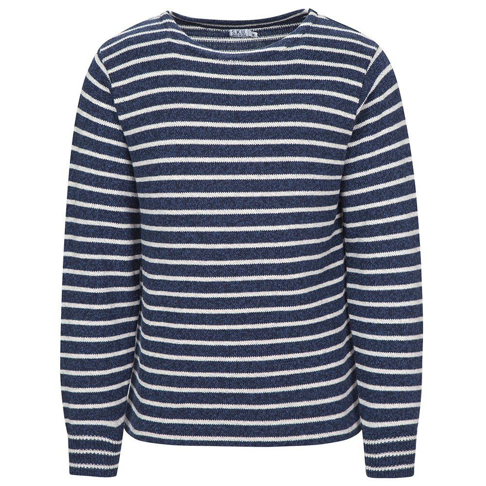 Save Khaki Men's Ragg Sweater SK366 Marine Stripe SZ M