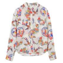 Mauro Grifoni Women's Camicia-Collo-Fascia Blouse KP260027-KS128-302 SZ 42 - $174.24