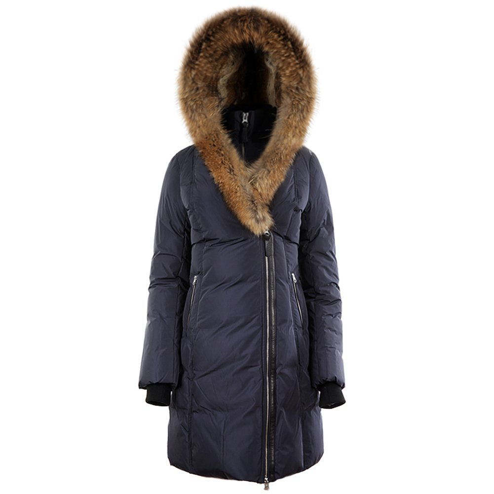 Mackage Ladies Down Coat w/ Raccoon & Rabbit Fur TRISH Ink SZ M