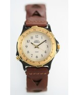 Timex Men's Leather Stainless Steel Water Resistant Easy Read Quartz Watch - $31.62