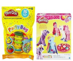 Play-Doh My Little Pony Make 'n Style Ponies + 15 colorful Dough Cans Pa... - $26.96