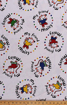 Flannel My Friend Maisy Mouse on White Kids Flannel Fabric Print by Yard... - $9.95