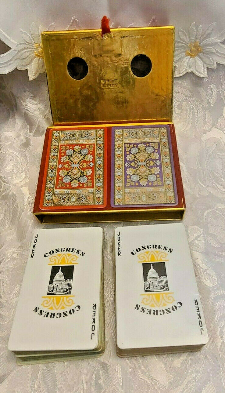 Vintage Advertising Good Year Dual Deck  By Congress  Playing Cards