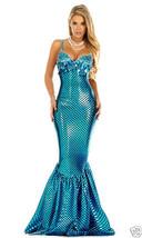 Forplay Sexy Sensational Sea Gem Mermaid Turquoise Aqua Sequin Dress Costume - $84.99