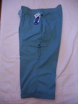 Women's Lee Austyn Cargo Capri Pants French Blu Color Size 24W M NEW Relaxed Fit - $36.62