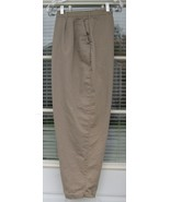 22 Venezia Khaki Pleated Cuffed Pants Slacks - $9.99