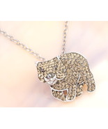 Animal Planet™ Australia Wombat Crystal Sterling Silver Pendant Necklace - $19.99