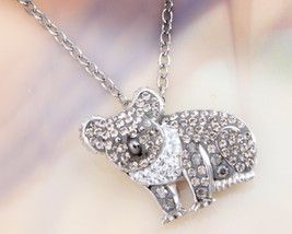Animal Planet™ Australia Koala Crystal Sterling Silver Pendant Necklace - $19.99