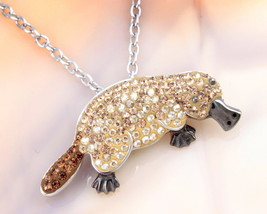 Animal Planet™ Australia Platypus Crystal Sterling Silver Pendant Necklace - $19.99