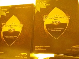 2 Boxes Pure Energy Now Tea 60 Packets - $16.00