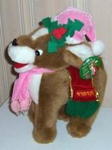 """Rudolph & Santa Reindeer Plush 12"""" VIXEN with Decorative Saddle and Pink... - $8.49"""