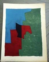 Serge Poliakoff Original Lithograph Print 1961 Abstract Mid Century Modern Art - $579.49