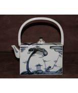 "VintageTakahashi San Francisco Blue & White Tea Pot With Lid  6.5"" x 7"" ... - $10.00"
