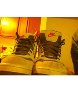 NIKE AIR FORCE ONE Basketball Shoes GRAY SUEDE BLUE Size 12 - $18.50