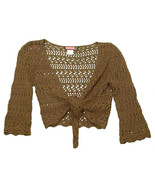 Womens Brown SAY WHAT Long Sleeve Wrap Style Bl... - $8.55