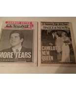 DEATH OF KENNEDYS: JOHN JR, TED, JACKIE - NEW YORK NEWSPAPERS - FREE SHI... - $46.75