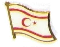 CYPRUS NOTHERN - Wholesale lot 12 flag lapel pins ef065
