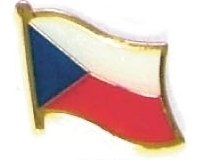 CZECH REPUBLIC - Wholesale lot 12 flag lapel pins ef066