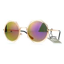 Retro Womens Sunglasses Octagonal Outline Round Double Metal Frame - $9.85