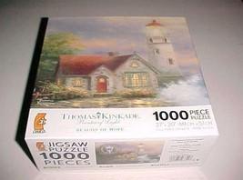 "Ceaco 2008 Thomas Kinkade Beacon of Hope 1000 Piece Jigsaw Puzzle 27"" x ... - $29.69"