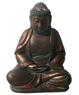 Chinese Golden Brown Wooden Meditation Buddha Statue cs042 - $1,450.00