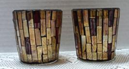 Vintage Elegant Mosaic Glass Votive Tea Light Candle Holders - $10.50