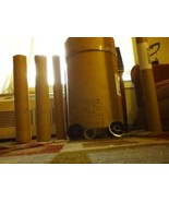 ART SUPPLIES 25 Tissue Rolls ROUND HARD THICK CYLINDERS AND DRUM WITH COVER - $32.73