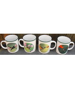 Set of 4 National Wildlife Federation Hummingbirds Large Mugs Cups - $34.00
