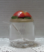 Vintage Acrylic Jelly/Jam/Marmalade Jar Strawberry Jar With Lid & Spoon ... - $13.50
