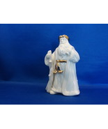 Lenox: Santa with Staff Figurine Gold Trim Excellent! - $11.99