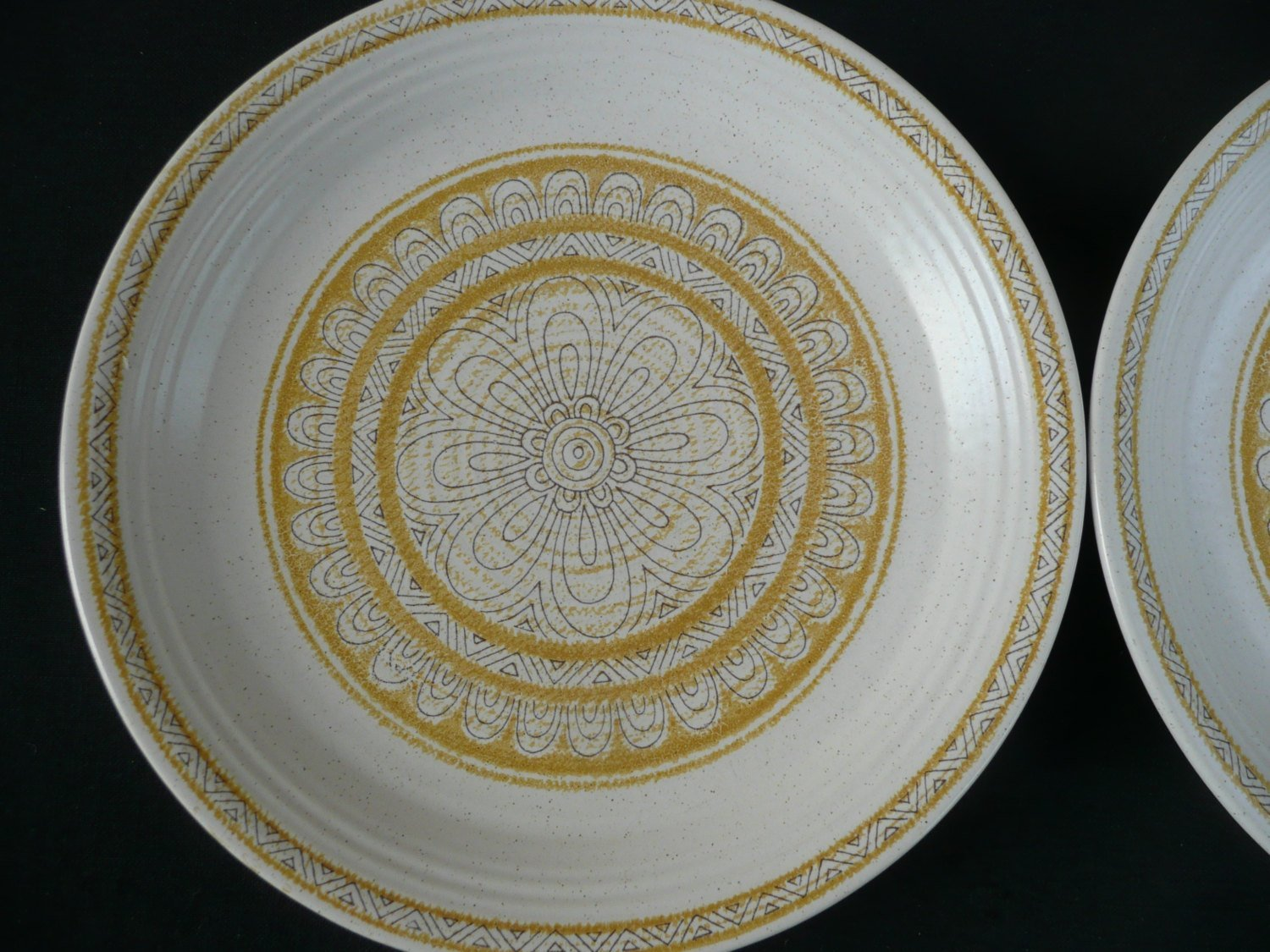 Two Franciscan Hacienda Gold Salad Plates