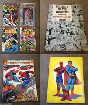 6 COMIC BOOKS #1 Superman v SpiderMan Battlestar Galactica Captain Marve... - $140.25