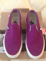 VANS Fuchsia Classic Leather Vintage Suede Slip On Skater Sneakers Shoes... - $55.74