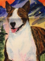 "Bull Terrier Garden Flag USA Made Double Sided 11"" x 15"" English Dog Pet... - $24.24"