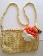 The Sak Purse Messenger Crossbody Handbag  Yellow Crocheted Orange White... - $26.18